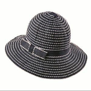 látkový klobúk modrý