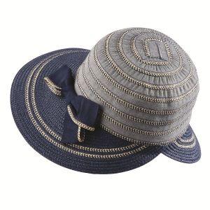 dámsky klobúk letný modrý