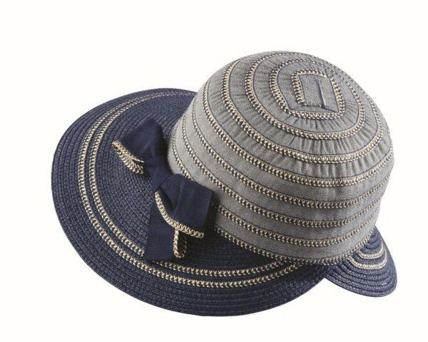 dámsky klobúk letný modrý 2021