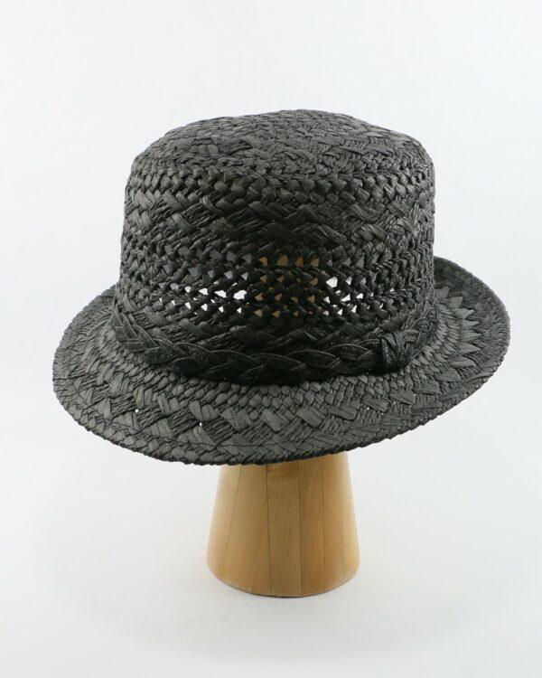 čierny letný klobúk 2117