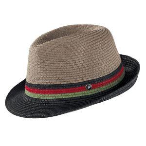 sivo-čierny klobúk letný