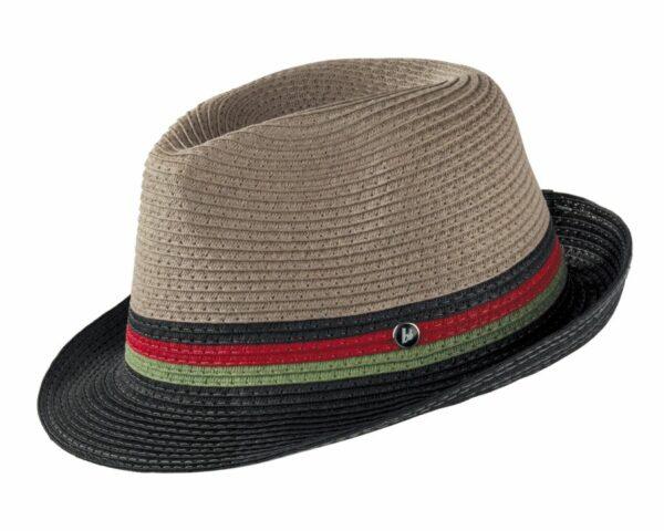 sivo-čierny klobúk letný 2619 (3)