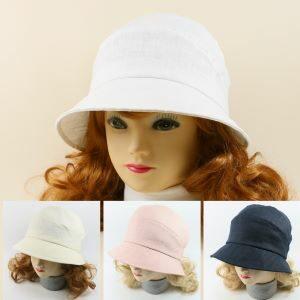 dámsky letný ľanový klobúk