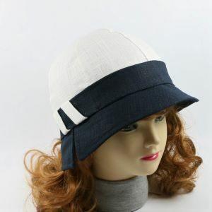 dámsky ľanový klobúk