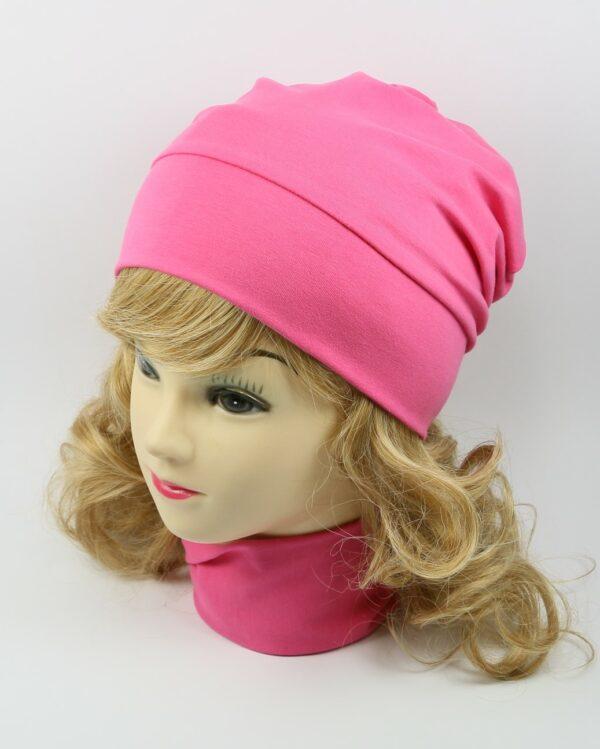detská bavlnená čiapka ružová 5807 (1)