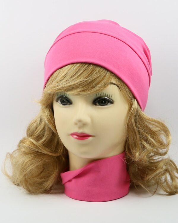 detská bavlnená čiapka ružová