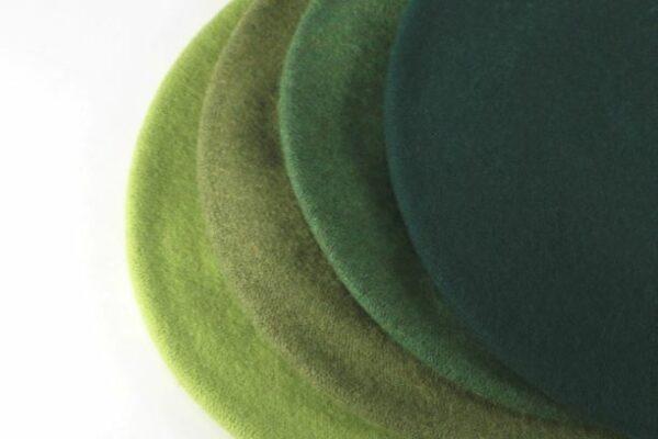 dámske baretky zelené