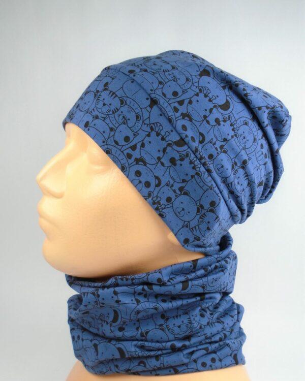 bavlnená čiapka pre deti A 5837 3 + nákrčník