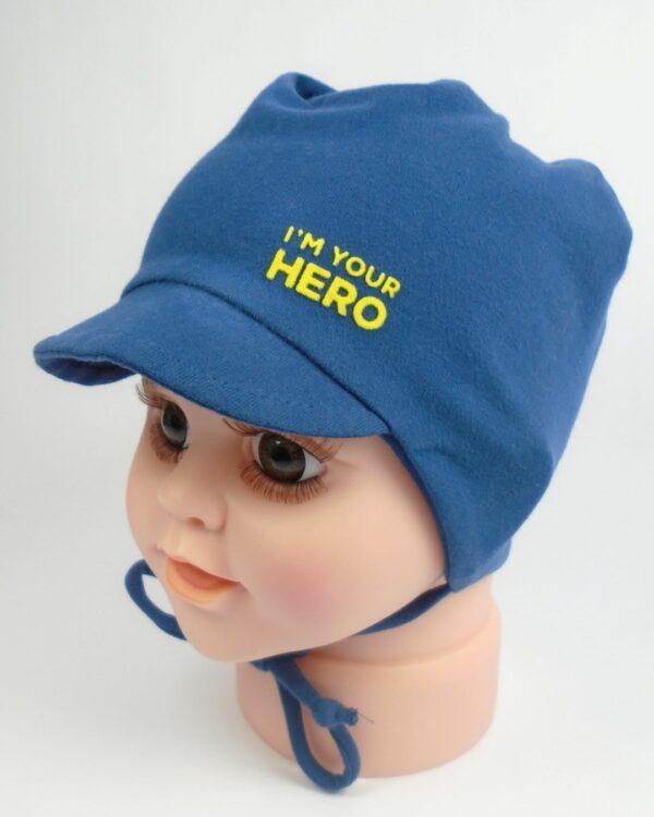 detská čiapka na šnúrky so šiltom A 9083
