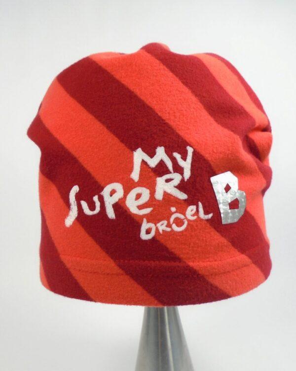 detská bavlnená čiapka červená A 9102 2