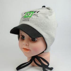 jarná detská čiapka so šiltom jesenná