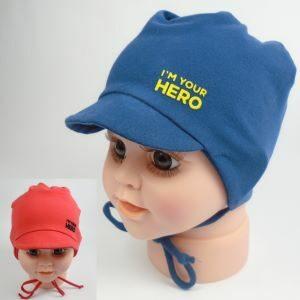detská čiapka na šnúrky so šiltom