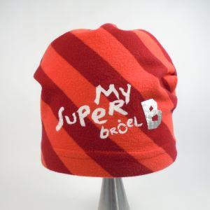 detská bavlnená čiapka červená